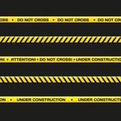 Vector police line Do not cross under construction