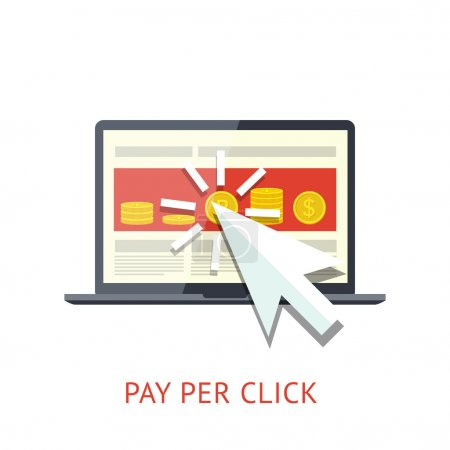 Pay per click illustration with notebook