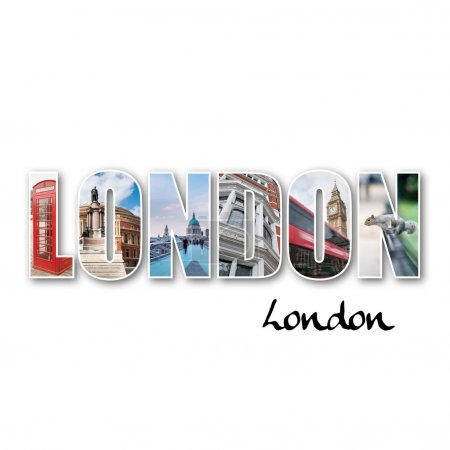 Photo for London collage of different famous locations. - Royalty Free Image