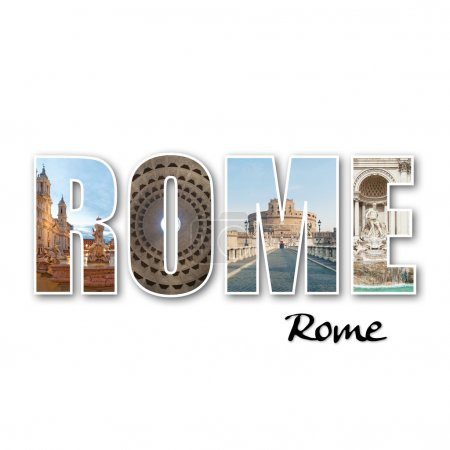 Photo for Rome collage of different famous locations. - Royalty Free Image