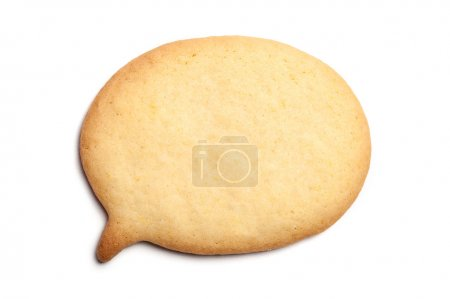 Photo for Homemade Biscuit isolated on white background. Balloon shape. - Royalty Free Image