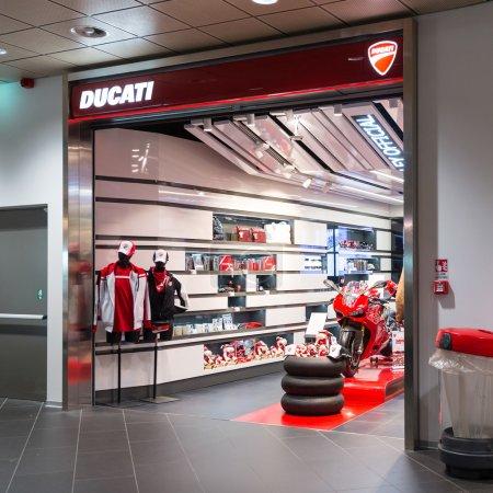 Ducati shop in Bologna airport