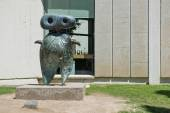 Sculpture in front of Joan Miro  Foundation.