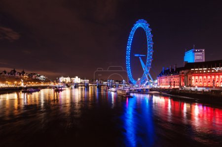 London skyline with London Eye