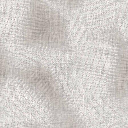 Fondo de textura de lino de collage tejido gris claro sin costuras. Patrón natural de fibra de cáñamo de lino. Fibra orgánica primer plano tejido material de la superficie. Ecru tela borrosa irregular textura material áspero