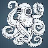 Octopus Vector background