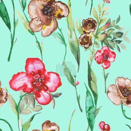Seamless pattern Watercolor illustration