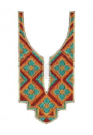 COLORFUL EMBROIDERY NECK LINE