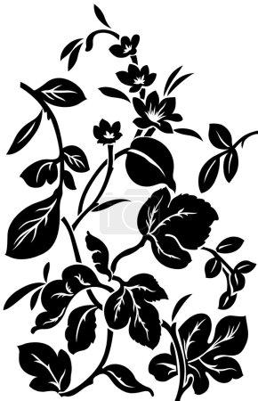 Illustration pour Style de travail brasso noir et blanc - image libre de droit