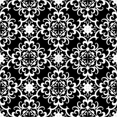 Black and white swirly pattern