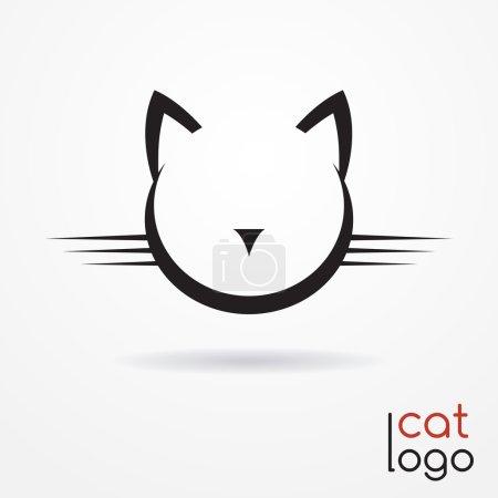 Illustration pour Silhouette stylisée de tête de chat - logo abstrait - image libre de droit