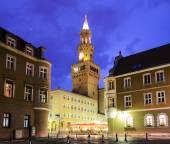 Opole city in the night