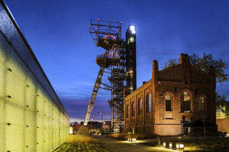 """The former coal mine """"Katowice"""", seat of the Silesian Museum. Th"""
