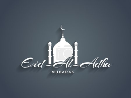 Beautiful text design of Eid Al Adha mubarak.