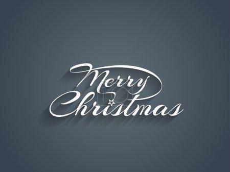 Illustration pour Joyeux Noël conception de texte. illustration vectorielle - image libre de droit