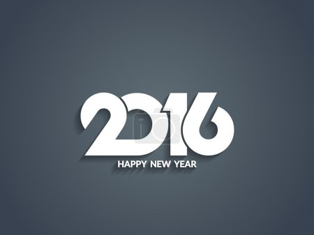 Beautiful text design of happy new year 2016