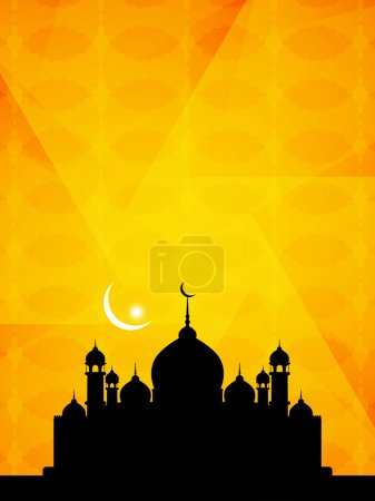 Beautiful Islamic background with mosque