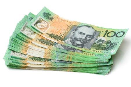 Australia Dollars, Bank notes of Australia close u...