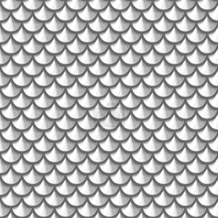 Seamless grayscale river fish scales