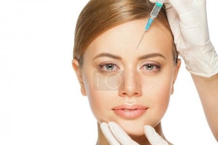 Cosmetic injection of botox