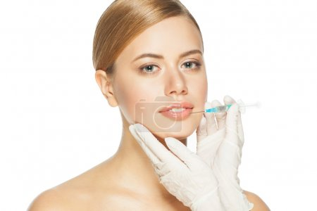 Botox injection to the lips