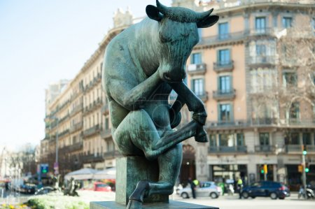 Statue of the thinking bull