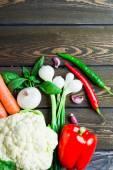 Постер Свежие органические овощи