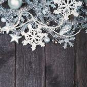 Stříbrné Vánoční dekorace