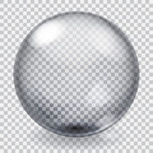Transparent glass sphere with scratches