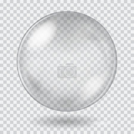 Big white transparent glass sphere. Transparency only in vector