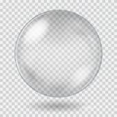 Big white transparent glass sphere Transparency only in vector