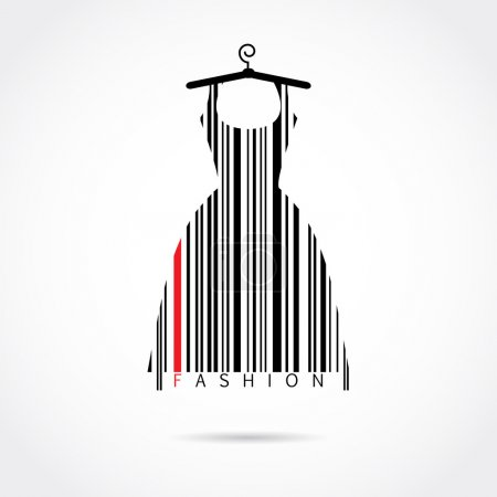 Illustration for Fashion barcode vector image - Royalty Free Image