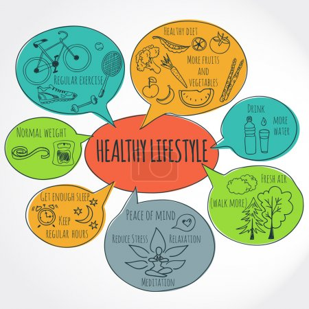 Illustration for Healthy lifestyle background - Royalty Free Image
