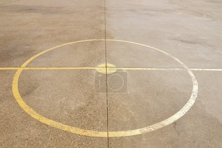 Photo for Close up of soccer center court and basketball - Royalty Free Image