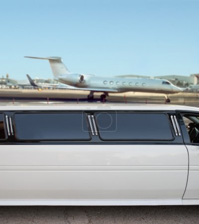 limousine and private jet