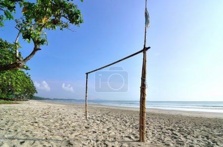 Goal post at the beach