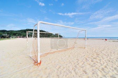 Goal Post on the beach