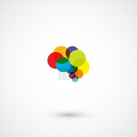 Abstract circles brain design