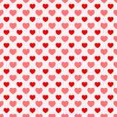 Pink and red nice Valentine seamless hearts background