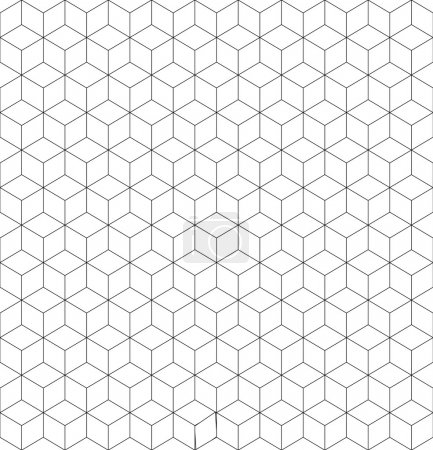 Illustration for Gray and white cubes seamless pattern geometrical design - Royalty Free Image