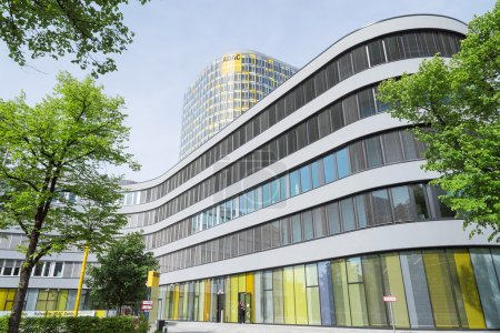 New ADAC Headquarters 18-storey office tower rises above 5-store