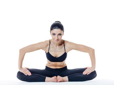 slim yoga woman