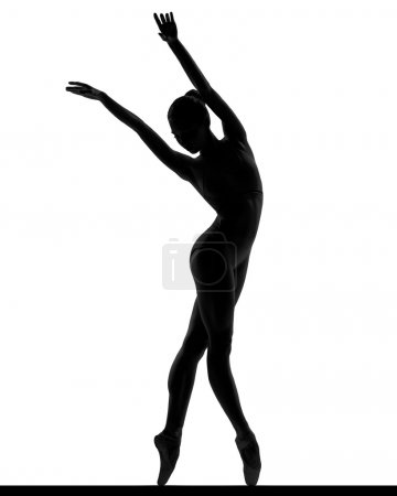 silhouette of a posing balerina