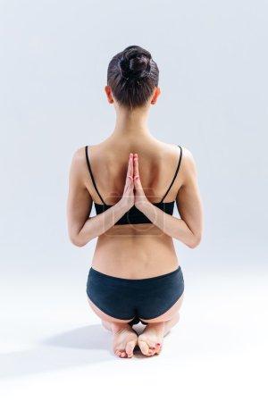 Yoga woman in studio