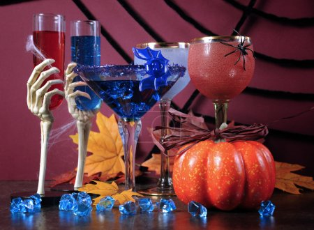 Happy Halloween ghoulish party cocktail drinks