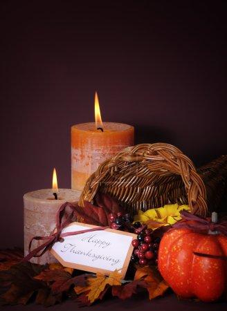 Happy Thanksgiving Table Cornucopia