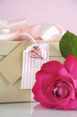 Mothers Day or Birthday gift with rose.