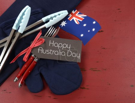 Australia Day barbeque bbq utensils preparation.