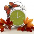 Daylight Saving Time Ends concept with Autumn Fall...