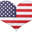 Photo of USA Stars and Stripes in heart shape on w...